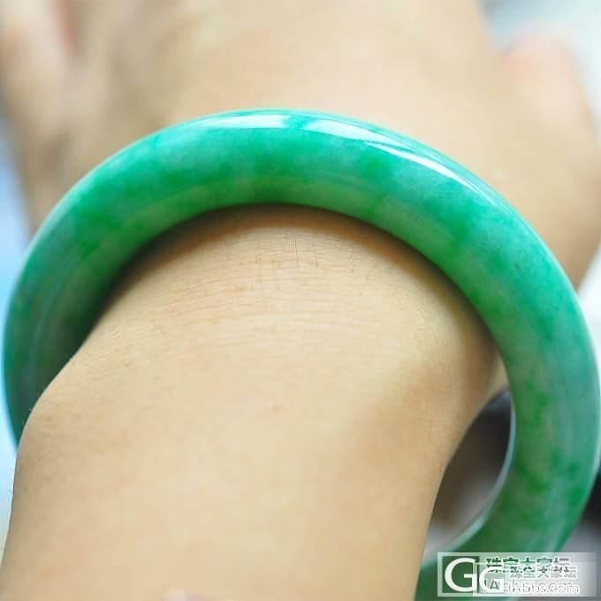 【醉美4】翡满绿翠胖圆条手镯 飘阳绿 天然缅甸翡翠A货_小凤眼菩提