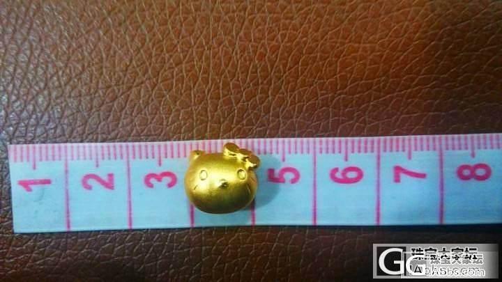 【珠宝小虫】3D硬千足黄金你懂的生生hello kitty猫头手链KT包邮_金