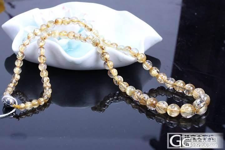 天然钛晶塔链_宝石