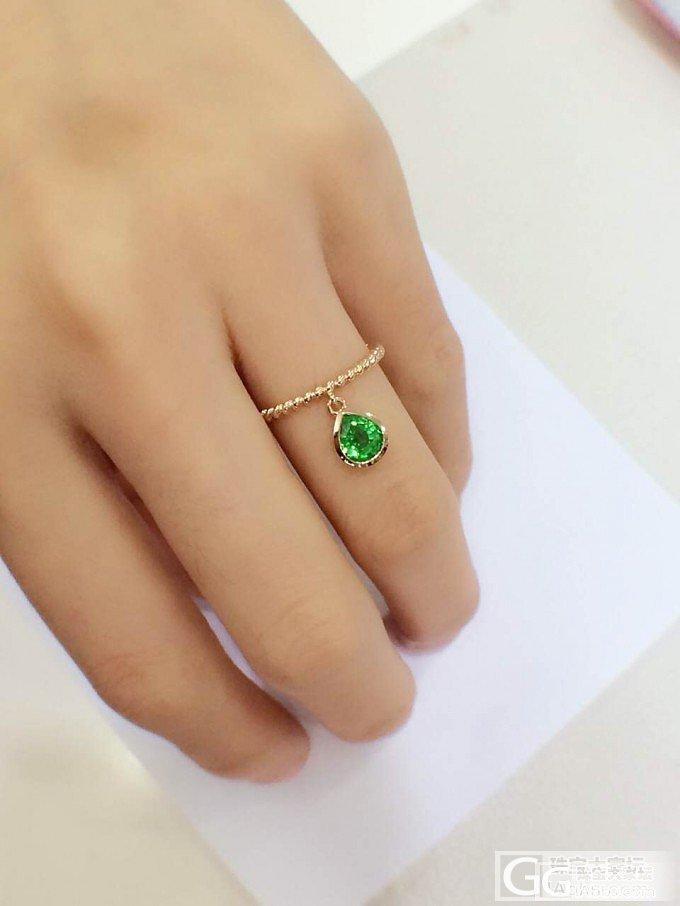 一枚小戒指_沙弗莱刻面宝石