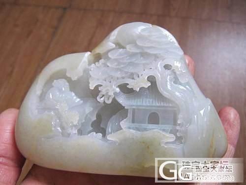 374.3克和田籽雕----扬州山子..._传统玉石