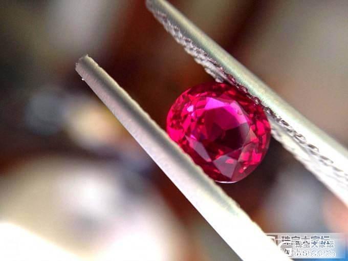 新出证一批GRS,颗颗莫桑比克鸽血红..._莫桑石宝石