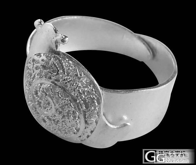 蜗牛戒指 纯银手工别有一翻味道_珠宝