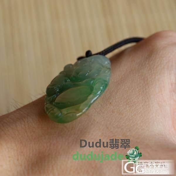 [Dudu]翡翠冰糯三彩逍遥佛.4000_Dudu翡翠