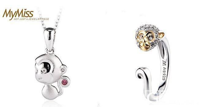 Mymiss银饰十二生肖项链、戒指,..._珠宝
