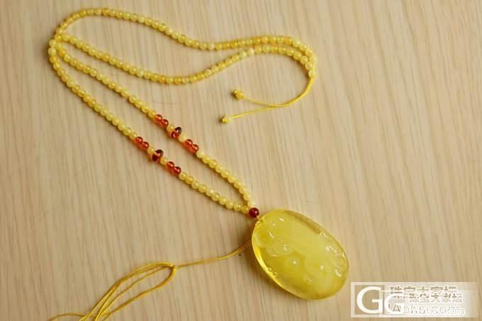 『已售』『琥珀』黄蜜色琥珀吊坠,雕刻貔貅_翡翠