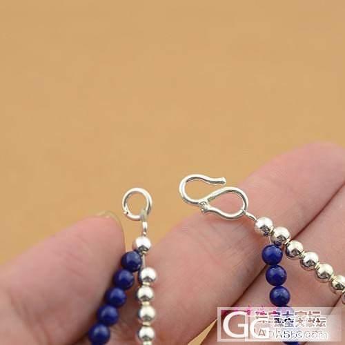 925纯银和天然青金石双层手链---配:蜜蜡,睡美人蓝松,太阳石_银
