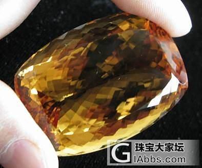 没有加热的黄水晶_刻面宝石黄水晶