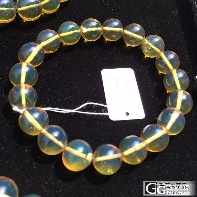 特价-缅甸琥珀金兰手链_有机宝石