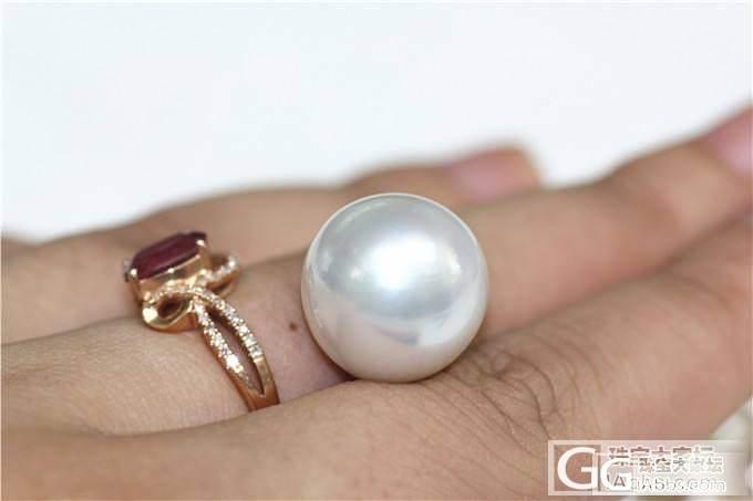 【伊人美珍珠】16.1mm超大南洋白珠裸珠!!性价比超高!_有机宝石