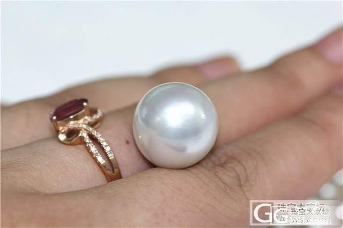 【伊人美珍珠】16.1mm超大南洋白..._有机宝石