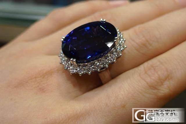 新镶嵌的蓝色妖姬戒指,越看越喜欢_珠宝