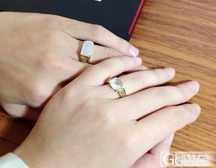谁说结婚一定要钻戒哒,晒晒我的翡翠&和田婚戒_翡翠