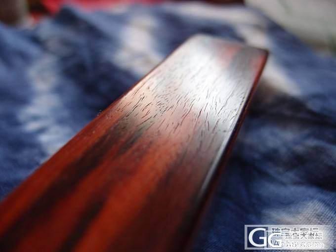 新帖老图-2012年8月自己磨的小叶紫檀镇纸,当时磨出来的颜色,牛毛纹,供大家参考_文玩
