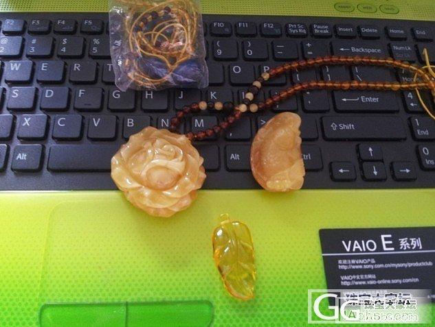 第一次团购原石雕的成品和**家大玫瑰及挂链还图_珠宝