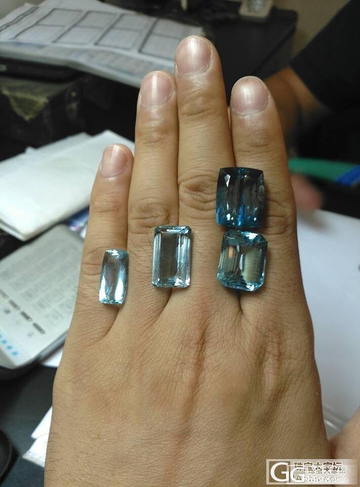 今天终于挑了一颗满意的海蓝宝_海蓝宝刻面宝石