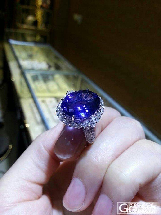 2012年给老婆买的11CT的无烧坦..._坦桑石刻面宝石