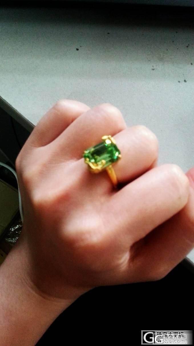 哈哈,,大家都不喜欢的第可绿。。被我捡了现货_戒指金福利社