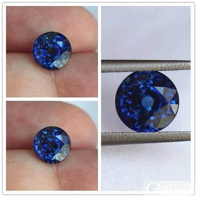 老师们  帮着看看 这颗 有烧皇家蓝..._蓝宝石