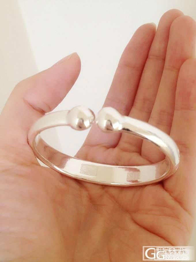 苦等了三个半月的老宝成家镯子终于戴上手_手镯银