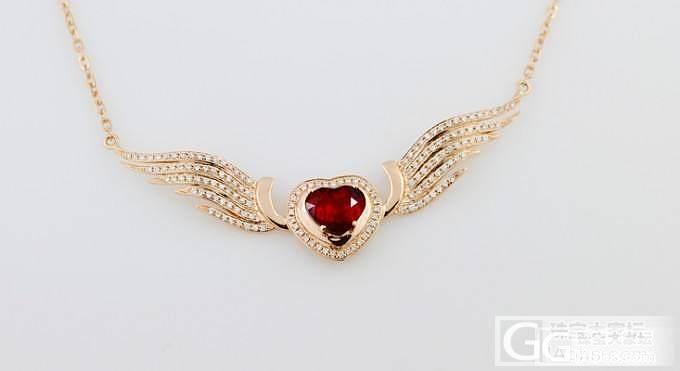 【忆宝】时尚翅膀造型 天然 鸽血红 红宝石吊坠_宝石