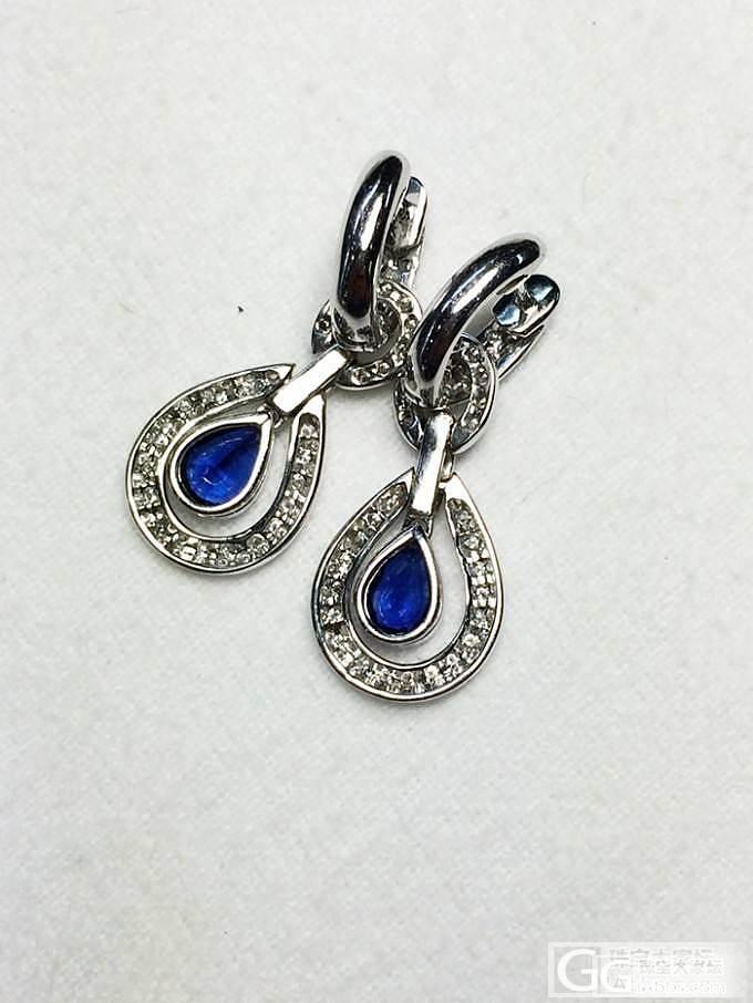 泰国顶级蓝宝石 皇家蓝色 钻石耳环_博物馆