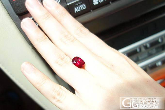 3.87ct天然无烧红宝石 鸽血红火彩十足 就喜欢这样的_红宝石刻面宝石