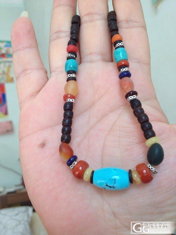刚刚DIY的松石手链、项链一套_松石