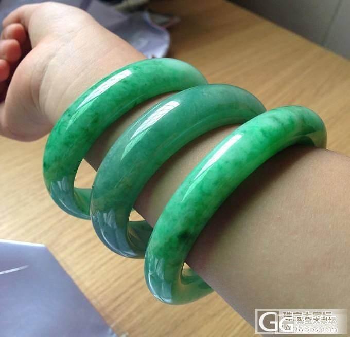 满阳翠绿:圆条手镯_翡翠