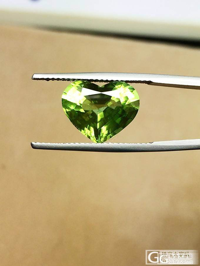 缅甸顶级橄榄石特别爱心切割 完美级 ..._博物馆
