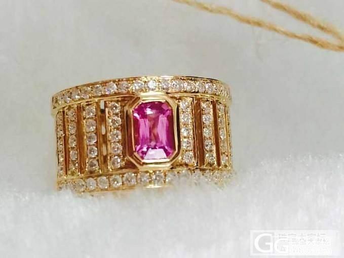 AMO珠宝 18K金镶嵌粉色蓝宝石/..._宝石