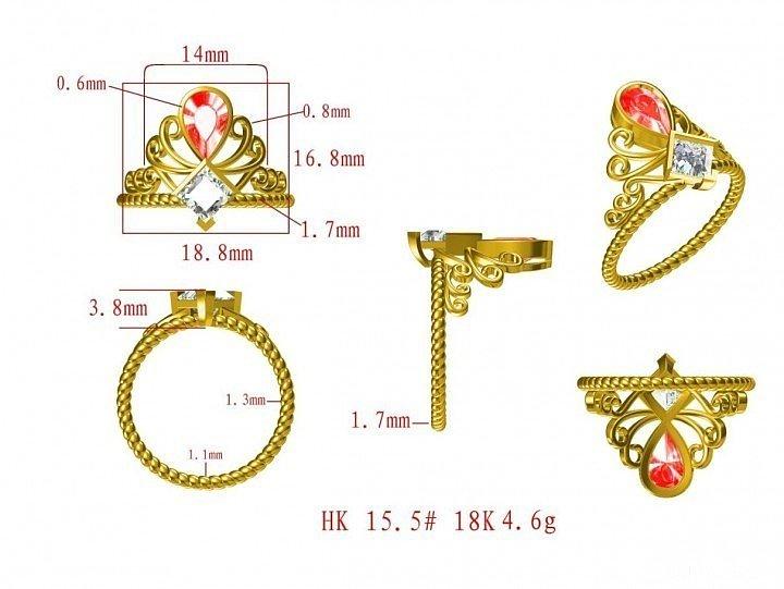 异形控:公主方与梨形组合戒指,各位前..._钻石