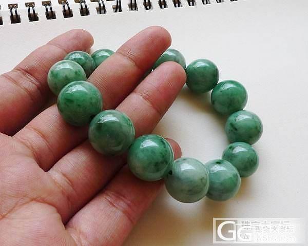 【超超翡翠】 6月5日冰种起光葫芦戒面,满绿年年有余,手珠一串(14个)_翡翠