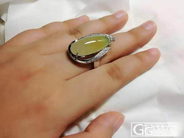 刚上好酱油的 黄加绿水滴 戒指,潮吗?_翡翠