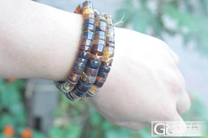 天然缅甸琥珀手链_有机宝石