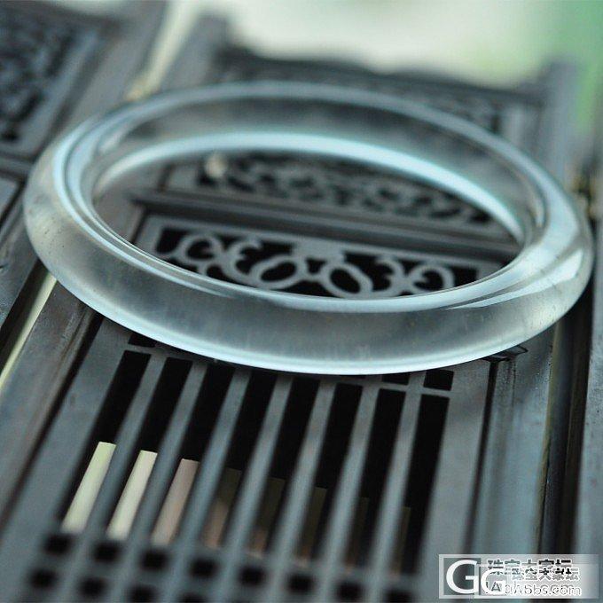 【冰仙】天然缅甸水沫玉圆条手镯 媲美玻璃种翡翠,冰润起光_小凤眼菩提