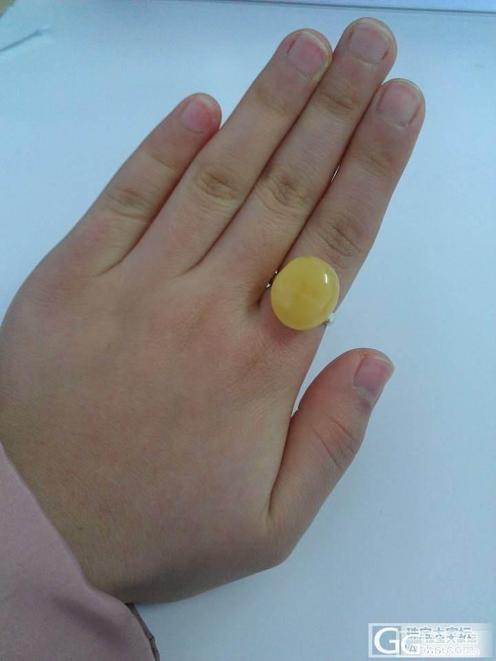 刚收到手的蜜蜡戒指,_蜜蜡