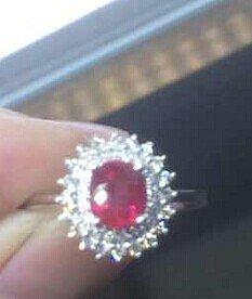 1ct 红宝有烧,多少值得入,大家给估个价啊_红宝石