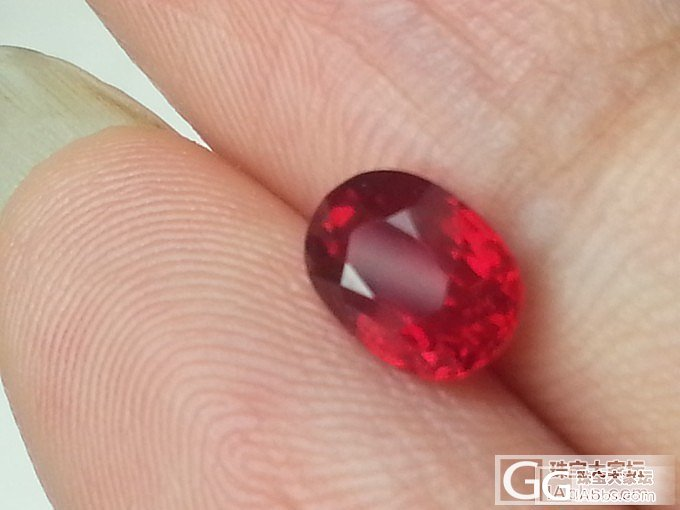 一颗咪咪小的红鸽子,请大家轻拍,渣图..._刻面宝石红宝石