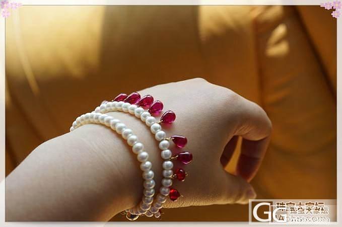 红刚玉水滴淡水珍珠手链古印度宫廷风_工艺