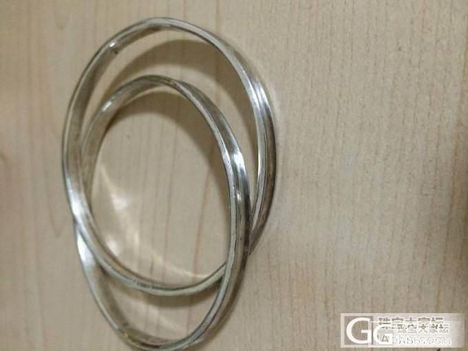 新DIY的双环手镯,欢迎来闪。_手镯银
