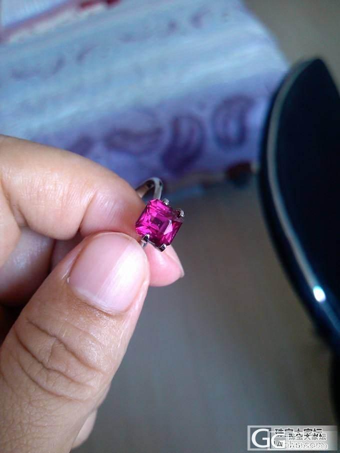 发俩非典型颜色石榴石,观感已经和rubellite没啥区别了_戒指刻面宝石石榴石