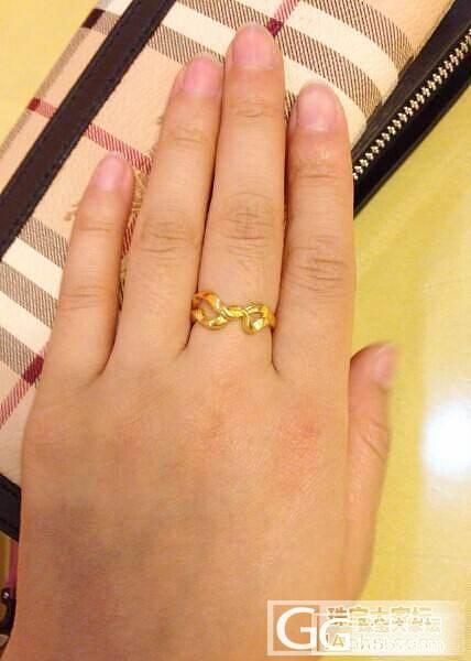 新买的戒指_戒指金