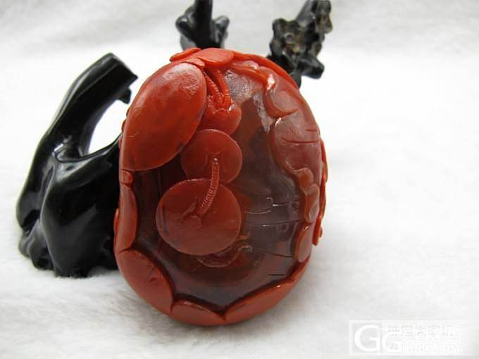 极品南红柿子红花开富贵小摆件,专营南红,自产自销_玛瑙