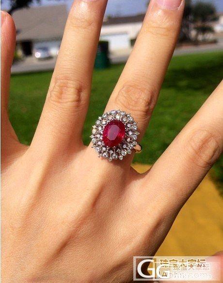 洗洗眼睛,看一只缅鸽_戒指红宝石