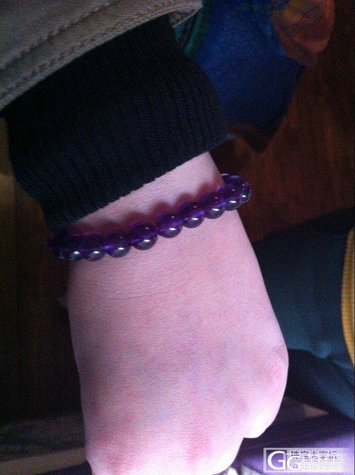 出三条珠珠,石榴石,碧玺和紫水晶~_宝石