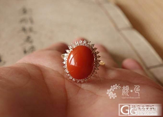 【颜●色】(售罄)真金真钻满肉柿子红戒指 3500元