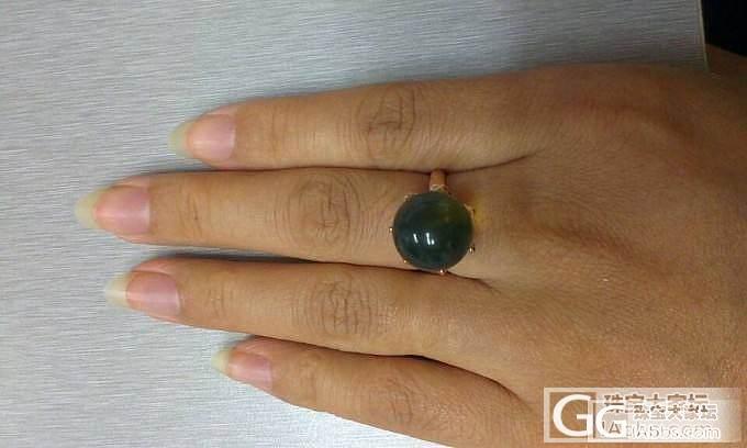 哇哈哈,我的皇冠戒指来了,大猪一枚,..._有机宝石