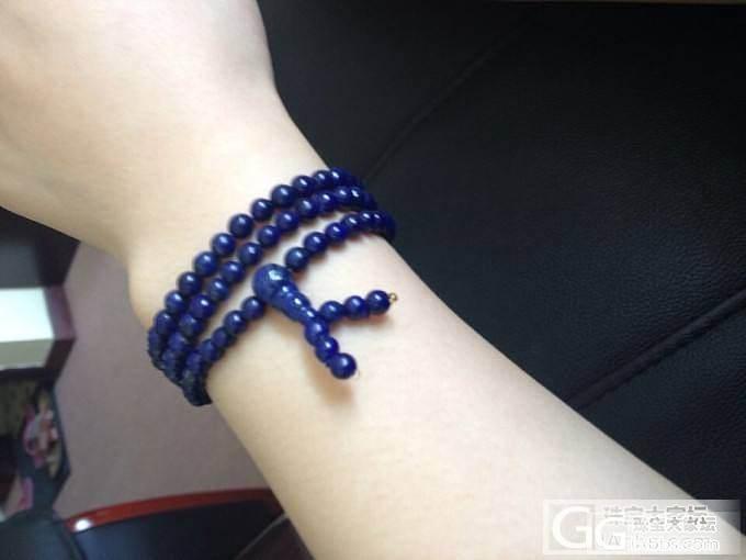 昨天新穿的阿富汗工厂出的5.5mm的108颗,纯素珠_珠宝