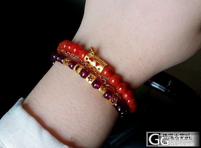 晒晒我的彩宝新搭配,青金+南红,南红,红纹_水晶